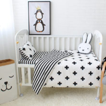 Nordic Patterned Cotton Baby Bedding Set