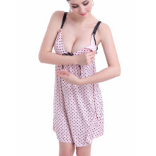 Fashion Women's Polka Dot Night Dress
