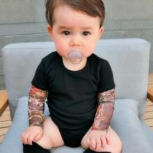 Baby Biker Tat Romper